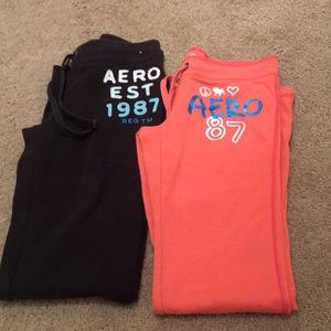 Aero lounge pants Peach small Navy medium 2 pack